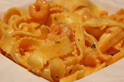 Pasta mit Knoblauch - Tomaten - Shrimps 6