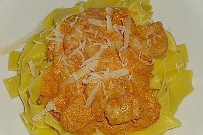 Pasta mit Knoblauch - Tomaten - Shrimps 13