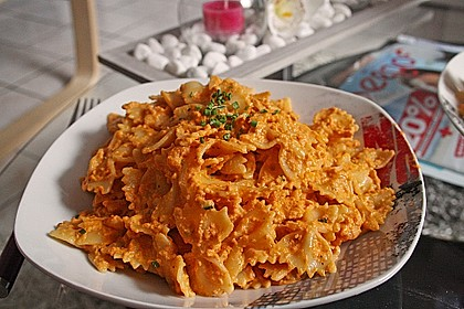 Pasta mit Knoblauch - Tomaten - Shrimps 3