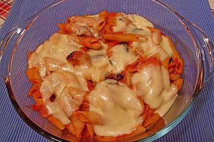 Pasta mit Auberginen-Zucchini-Sugo 4
