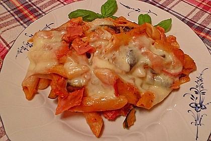 Pasta mit Auberginen-Zucchini-Sugo 5