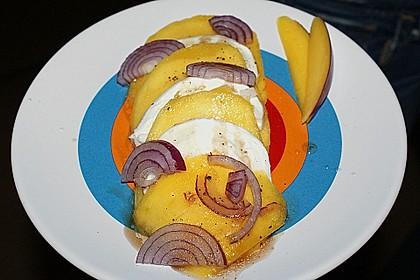 Büffelmozzarella mit Mangoscheiben und  fruchtigem Dressing 27