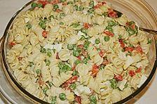 Nudelsalat mit Kasseler und Eiern