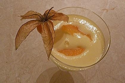 Prosecco - Zabaione auf Orangenfilets 7