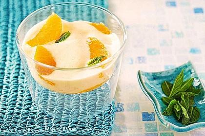 Prosecco - Zabaione auf Orangenfilets 2