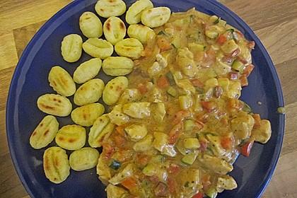 Basilikum - Gemüsesauce mit Hähnchen 4
