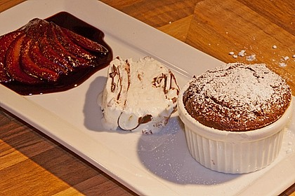 Espresso - Schokoladensoufflé mit Vanille - Äpfeln 2