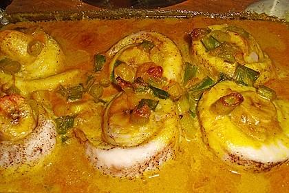 Fisch - Curry mit Bananen 1