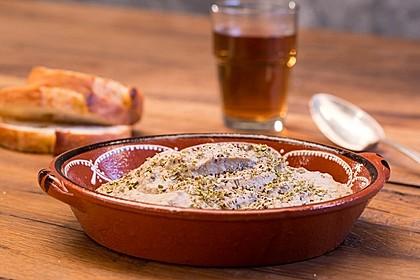 Auberginencreme türkische Art, mit Feta