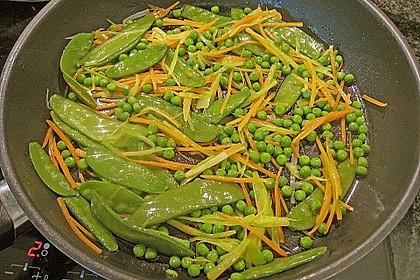 Jakobsmuscheln im Senfschaum mit Gemüse und schwarzem Reis 3