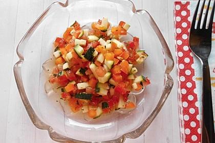 Zucchini - Tomaten - Paprika - Salat 7