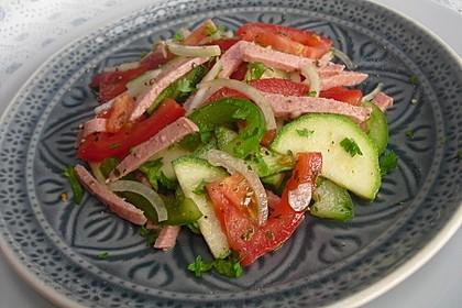 Zucchini - Tomaten - Paprika - Salat