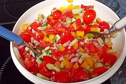 Zucchini - Tomaten - Paprika - Salat 2