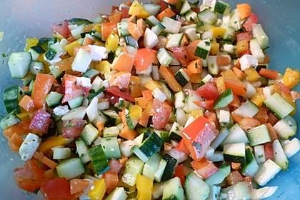 Zucchini - Tomaten - Paprika - Salat 3