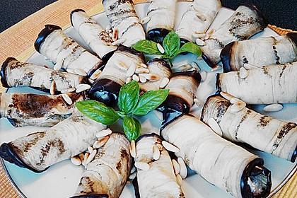 Auberginenröllchen mit Frischkäse 9