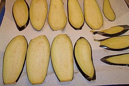 Auberginenröllchen mit Frischkäse 11
