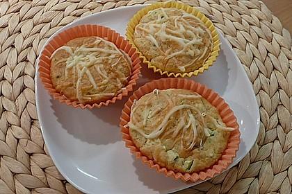 Kräuter - Knoblauch - Zucchini - Muffins