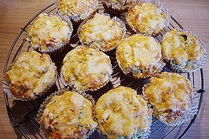 Kräuter - Knoblauch - Zucchini - Muffins 1
