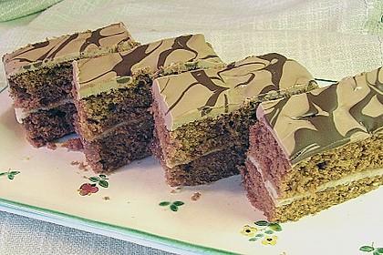 Schoko - Orangen - Marzipan - Kuchen