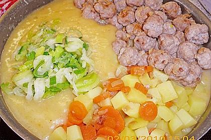 Kartoffelsuppe mit Hackbällchen 1