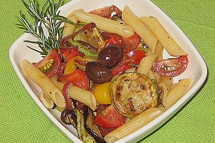 Nudelsalat mediterran 3