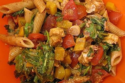 Nudelsalat mediterran 4
