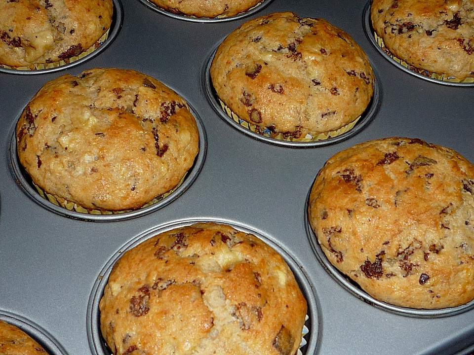 bananen schoko muffins rezept mit bild von naomi1973. Black Bedroom Furniture Sets. Home Design Ideas