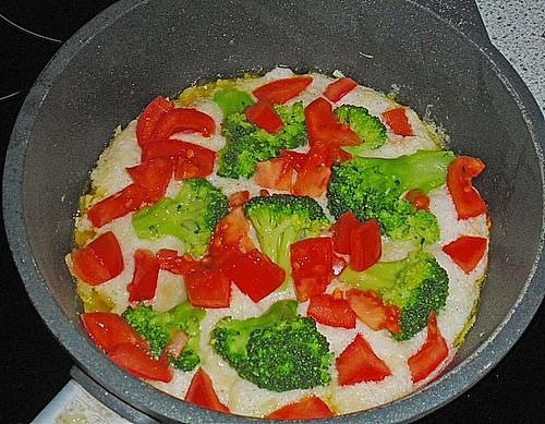 omelette mit gem se und schinken rezept mit bild. Black Bedroom Furniture Sets. Home Design Ideas