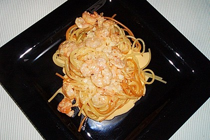 Spaghetti mit Romeo - Krabben - Sauce 0