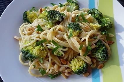 Brokkoli - Nudeln in Gorgonzola - Käse - Sauce