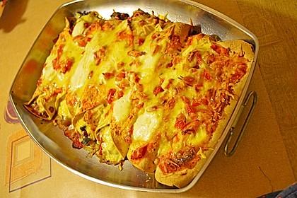 Enchilada verdura 90