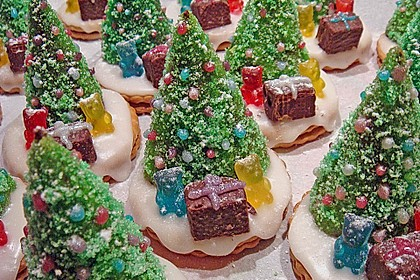 Weihnachtsbäumchen zum Essen 0