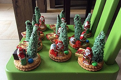 Weihnachtsbäumchen zum Essen 24