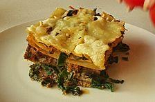 Lasagne mit frischen Pilzen und Spinat
