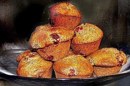 Mohn - Kirsch - Muffins 6