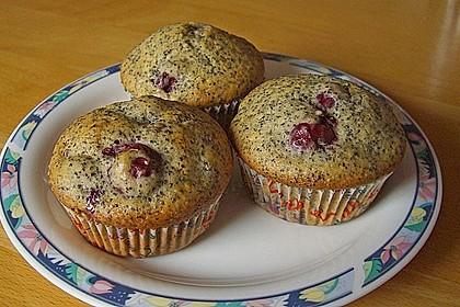 Mohn - Kirsch - Muffins 1