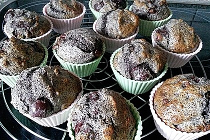 Mohn - Kirsch - Muffins 4