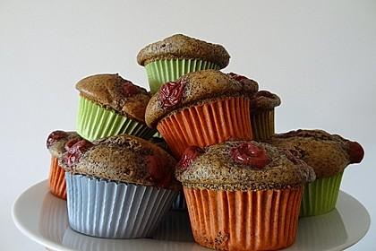 Mohn - Kirsch - Muffins 3