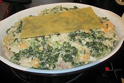 Lachs - Garnelen - Spinat - Lasagne 17