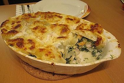Lachs - Garnelen - Spinat - Lasagne 3