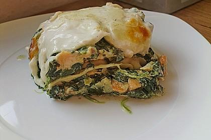 Lachs - Garnelen - Spinat - Lasagne 6