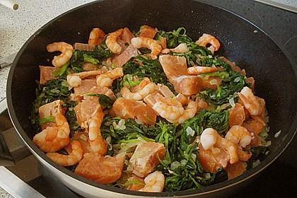 Lachs - Garnelen - Spinat - Lasagne 8