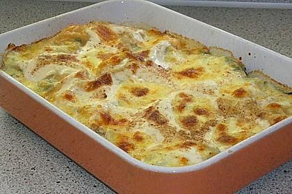 Lachs - Garnelen - Spinat - Lasagne 10