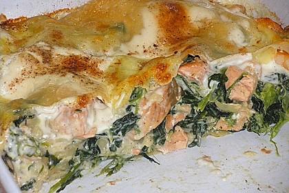 Lachs - Garnelen - Spinat - Lasagne 2