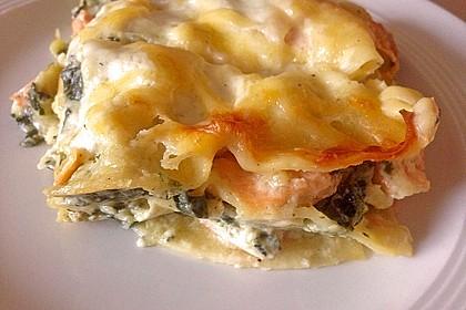 Lachs - Garnelen - Spinat - Lasagne 5
