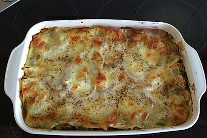 Lachs - Garnelen - Spinat - Lasagne 9