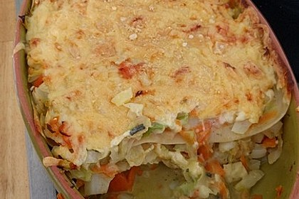 Wunderbare Spitzkohl - Möhren - Lasagne 19