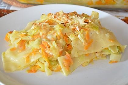 Wunderbare Spitzkohl - Möhren - Lasagne 17
