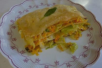 Wunderbare Spitzkohl - Möhren - Lasagne 4