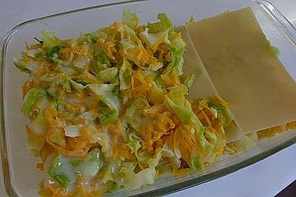 Wunderbare Spitzkohl - Möhren - Lasagne 26